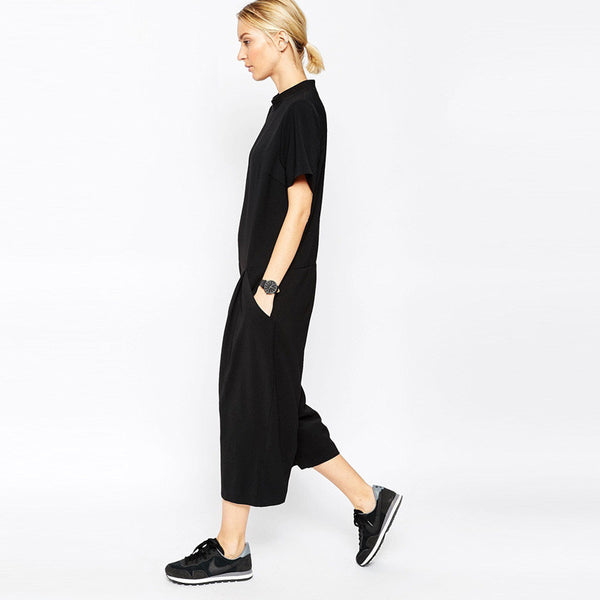 Side Pocket Solid Jumpsuits