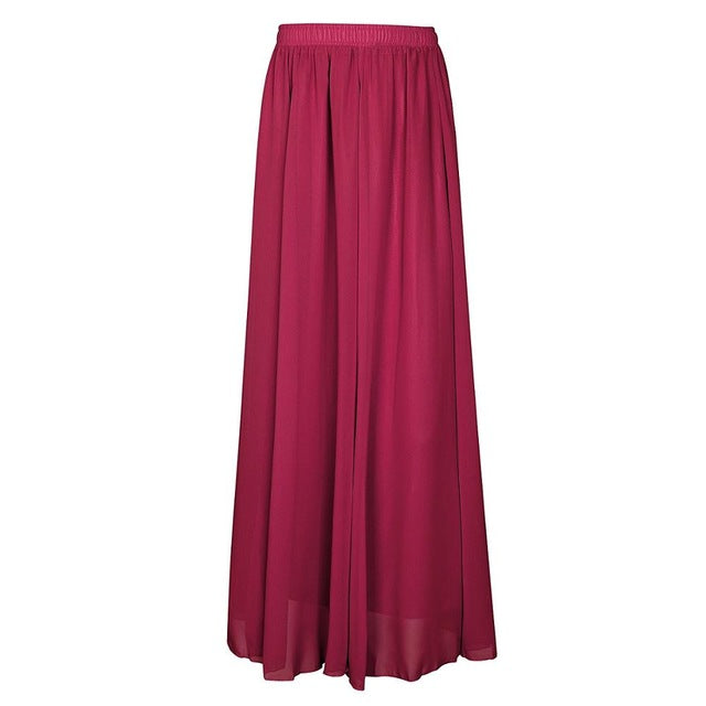 Long Chiffon Skirts