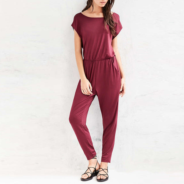 Backless  Casual Jumpsuit