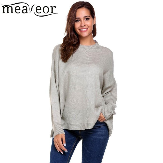 Casual Long Sleeve Solid Sweater