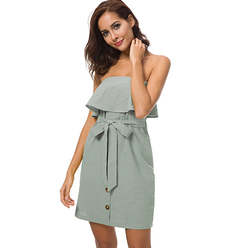 Off Shoulder Strapless Dress