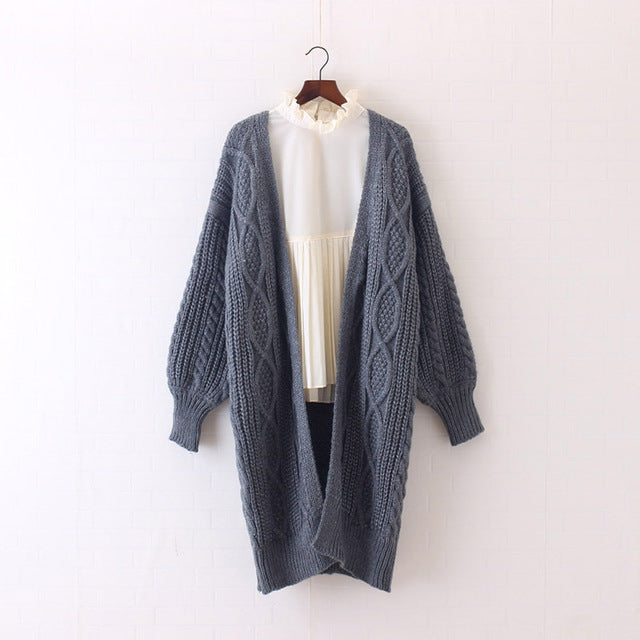 Women Long Cardigans V neck Oversized