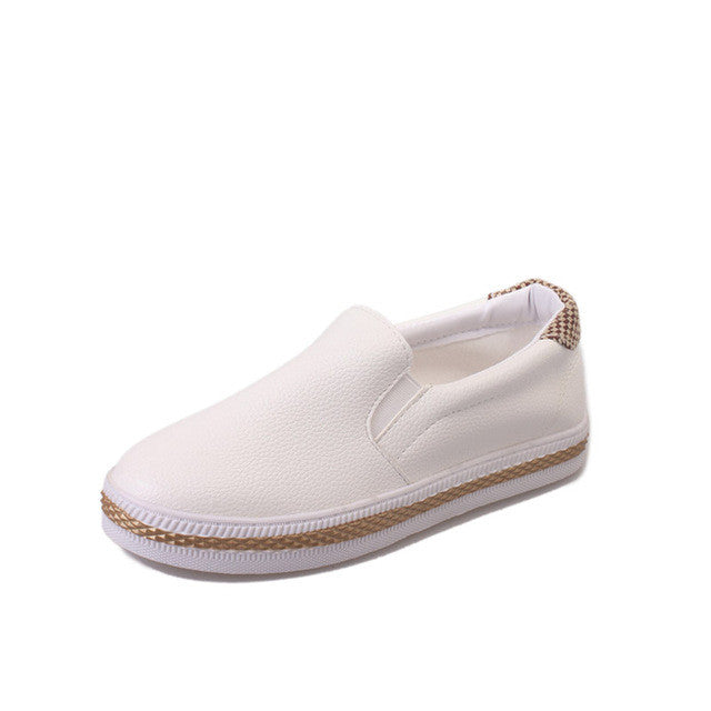 Faux Leather Espadrille