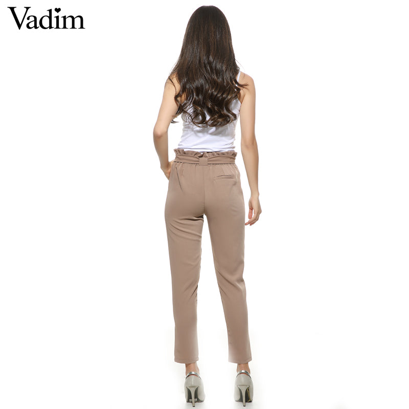 Chiffon High Waist Pants