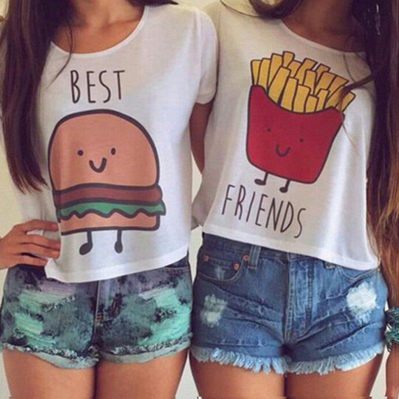 Cartoon Print Crop Top
