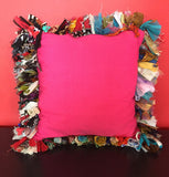 FREE SHIPPING! Colorful Chindi Throw Pillow