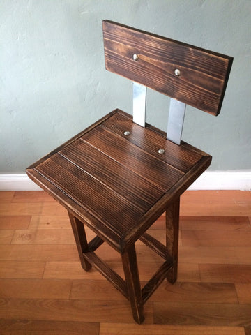 Handmade Rustic Wood Bar Stools