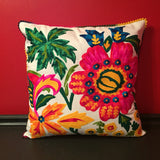 Mexican Flower Handmade Pillow Cover