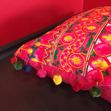 "FREE SHIPPING! 18"" Peruvian Style Hot Pink Decorative Throw Pillow"