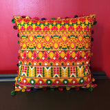 Peruvian Style Decorative Yellow Pillow Cover