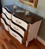 MARKED DOWN! Solid Wood Two-Tone French Provincial Dresser