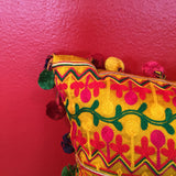 "FREE SHIPPING! 18"" Peruvian Style Yellow Decorative Throw Pillow"