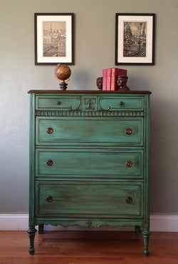 Antique Highboy Chest of Drawers