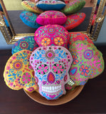 "FREE SHIPPING! Sugar Skull ""Dia de los Muertos"" Decorative Decorative Pillow"