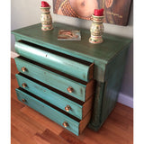 MARKED DOWN! Petite Antique Buffet Server (Teal)