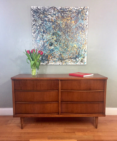 midcentury elm drawer black century dresser west products c mid