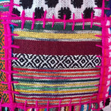 "FREE SHIPPING! 16"" Hot Pink Patchwork Throw Accent Pillow"