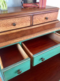 Antique Two Tone Highboy Chest of Drawers