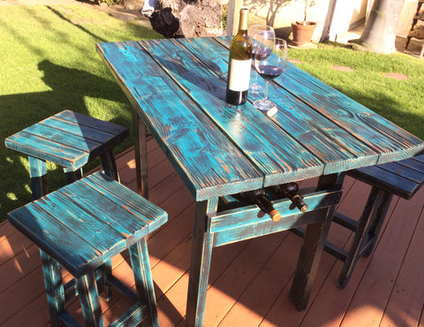 Handmade Rustic Dining Bar Table