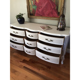 Solid Wood Two-Tone French Provincial Dresser Buffet