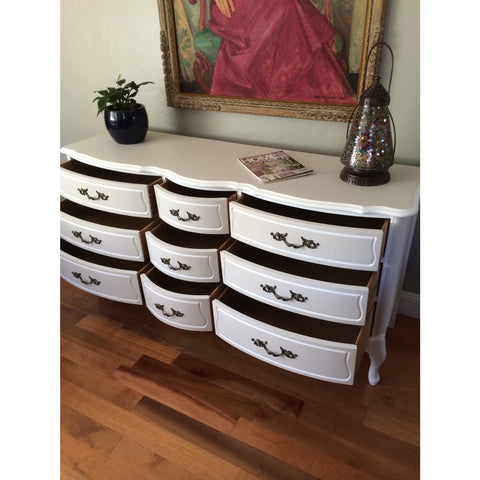 Solid Wood Two Tone French Provincial Dresser Buffet Eclectic Home