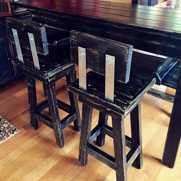 Handmade Rustic Accent or Bar Table