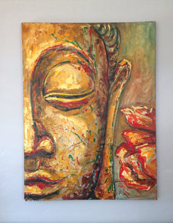 Acrylic Buddha on Canvas