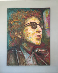 Bob Dylan on Canvas by Carlos Arroyave