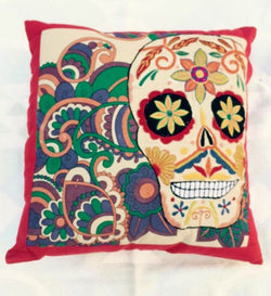 Day of the Dead Mexican Sugarskull Pillow Cover