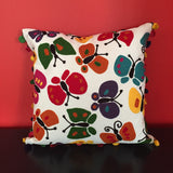 Colorful Butterfly Handmade Decorative Pillow Cover