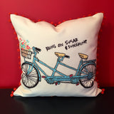 Bicycle Lover Handmade Pillow Cover