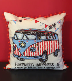 Vintage Car Lover Handmade Pillow Cover