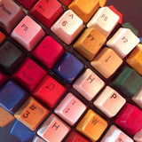 FREE SHIPPING! Multicolored Reclaimed Keyboard Keys Wooden Jewerly Box