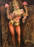 Goddess Tara on Canvas (Oil)