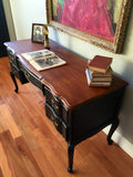 French Provincial Vintage Solid Wood Desk