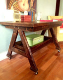 Handmade Rustic Multipurpose Wood Table Desk