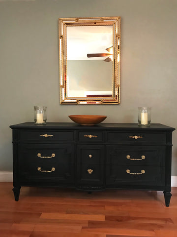 Pure Black Thomasville Dresser Buffet Sideboard