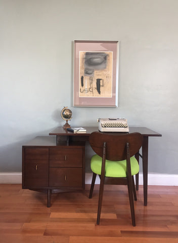 Vintage Mid-Century Modern Desk and Chair