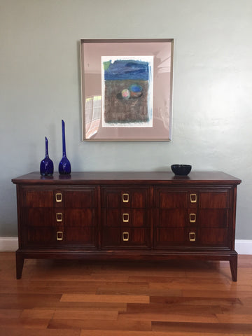 Mid Century Solid Wood Dresser Sideboard Credenza Buffet