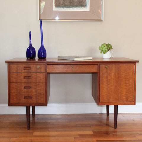 Danish Mid-Century Modern Solid Wood Desk
