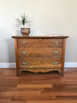Petite Antique Solid Wood Chest
