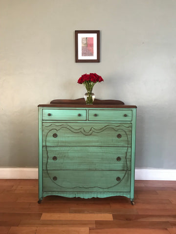 Antique Highboy Chest of Drawers Dresser
