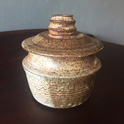 FREE SHIPPING - Mid Century Studio Pottery Bowl Jar with Lid