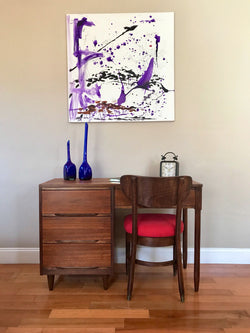 Vintage Mid Century Modern Desk and Chair