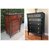 Black Highboy Chest of Drawers Dresser