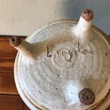 Vintage Mid Century Studio Stoneware Pottery Decorative Barrel