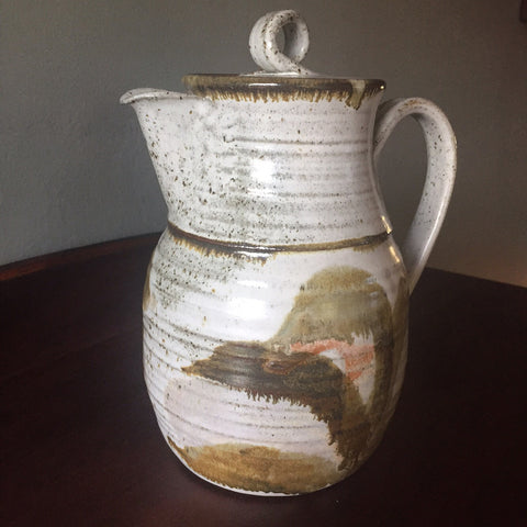 FREE SHIPPING - Vintage Handmade Pottery Ceramic Jar Pitcher