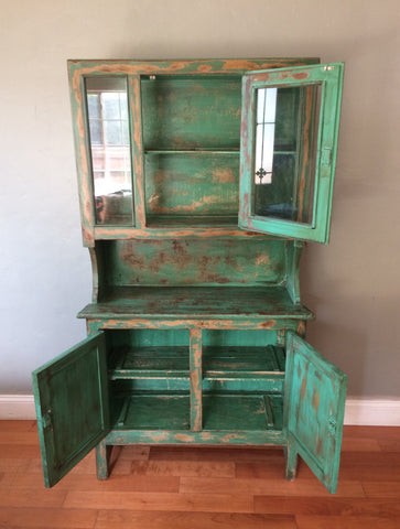 Vintage Farmhouse American Primitive Cupboard Kitchen Hutch Eclectic Home Living