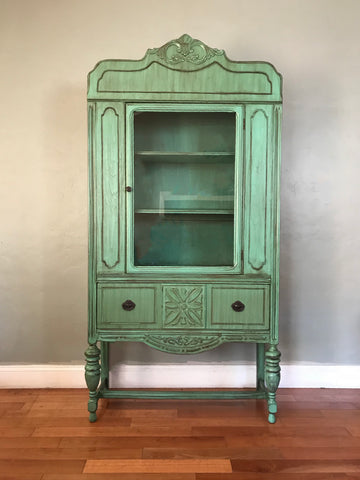 Restored Antique China Cabinet Kitchen Hutch