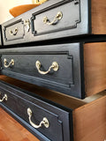 Pure Black Gold Two-Tone Vintage Long Dresser